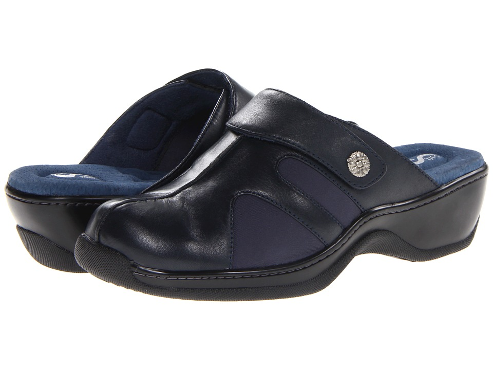 SoftWalk - Acton (Navy Veg Calf Leather/Stretch) Women