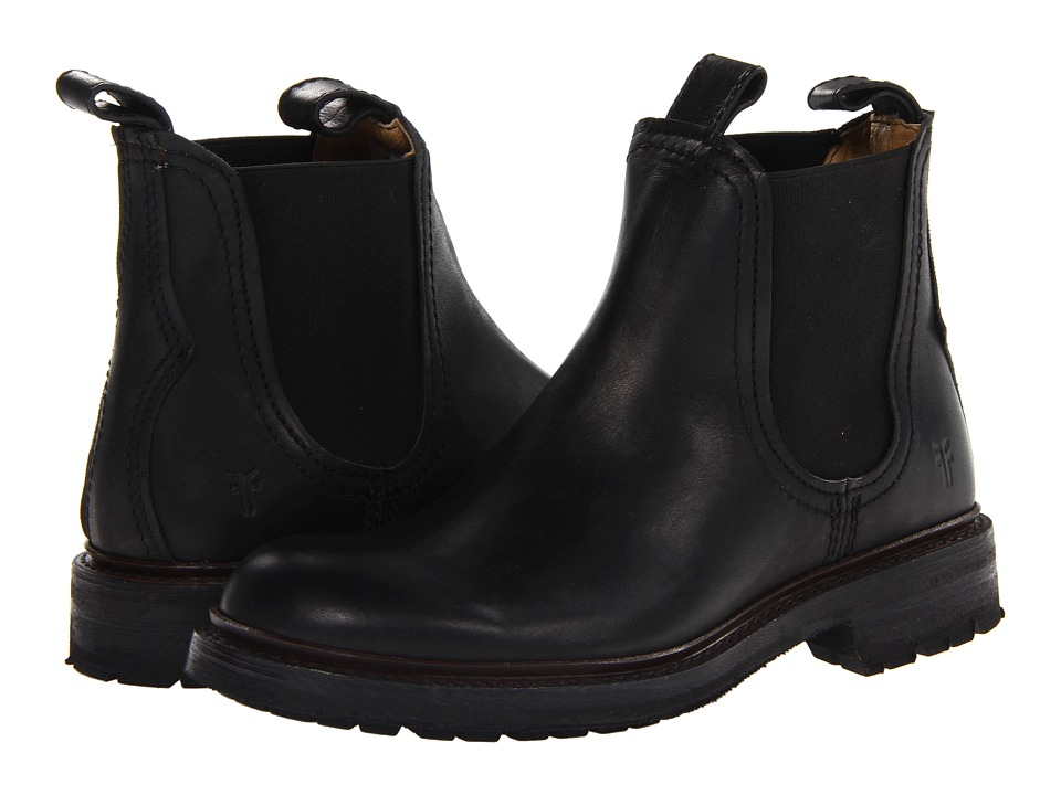 Frye - Freemont Chelsea (Black Essex) Men