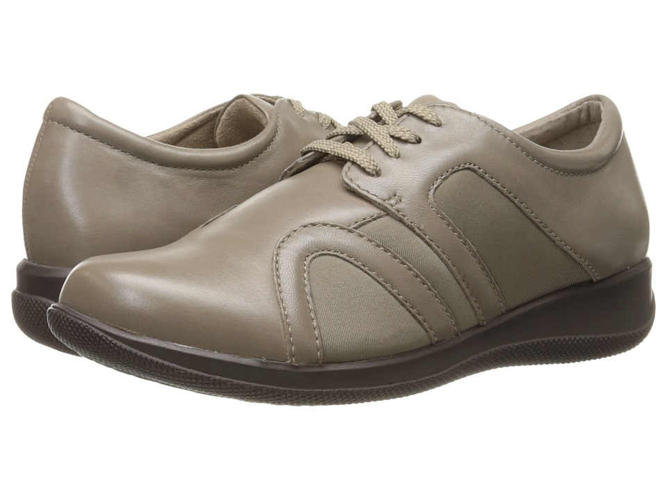 SoftWalk Topeka Sage Burnished Soft Kid Leather/Stretch Womens Lace up casual Shoes