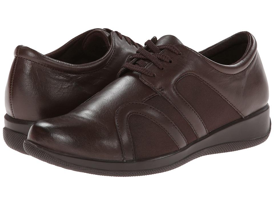 SoftWalk Topeka (Dark Brown Burnished Soft Kid Leather/St...