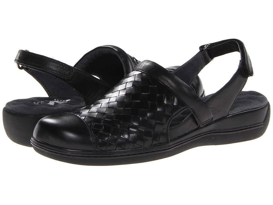 SoftWalk Salina Woven (Black Burnished Veg Kid Leather) W...