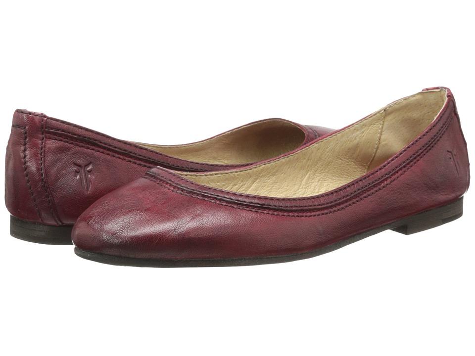 Frye Carson Ballet (Burnt Red Antique Soft Vintage) Flats