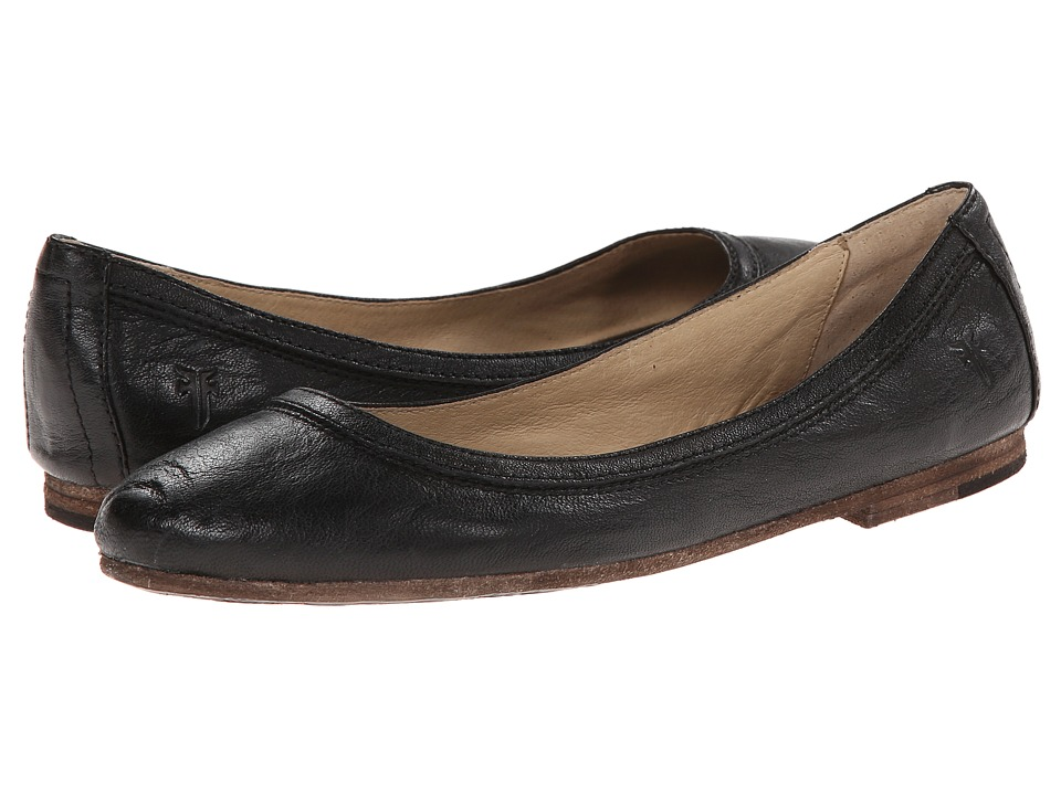 Frye Carson Ballet (Black Antique Soft Vintage) Flats