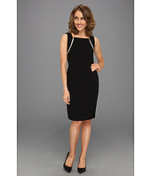 Calvin Klein - Sleeveless Career Sheath w/ Zipper Detail Dress