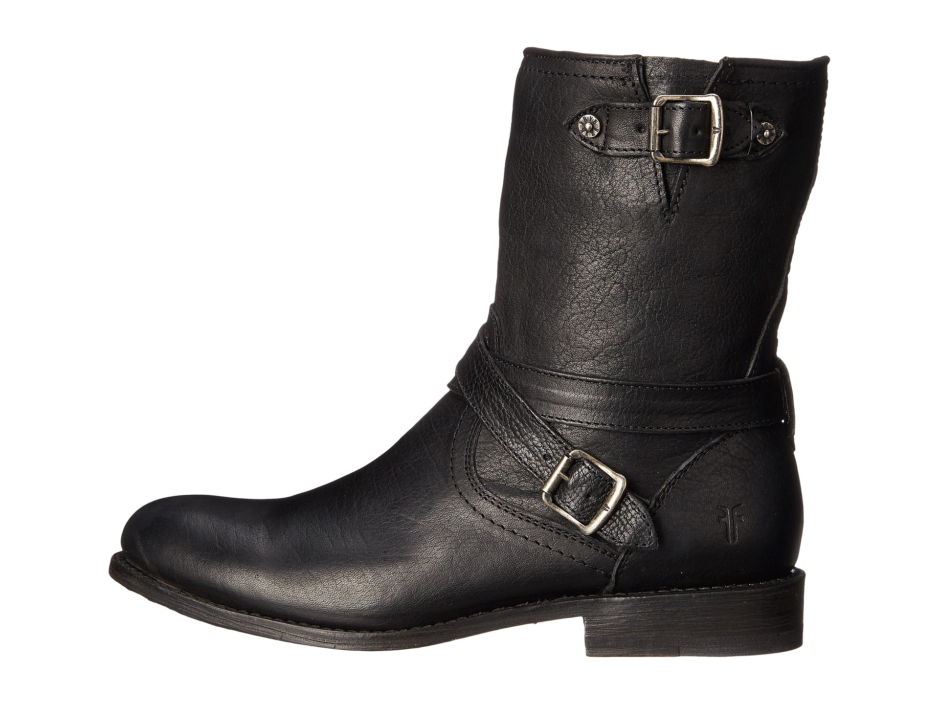 H And M Boots Men Black White Heart With Water Drop