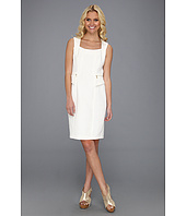 Calvin Klein - Sleeveless Square Neck Cotton Sheath Dress