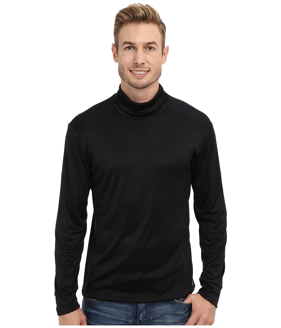 Hot Chillys Peach Solid Roll T Neck Black Mens Long Sleeve Pullover