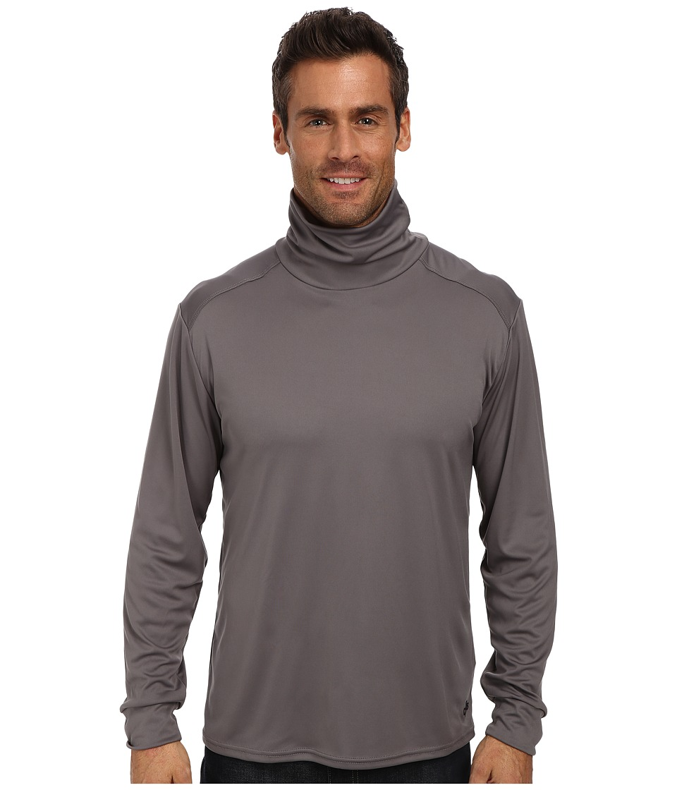 Hot Chillys Peach Solid Roll T-Neck (Charcoal) Men's Long...