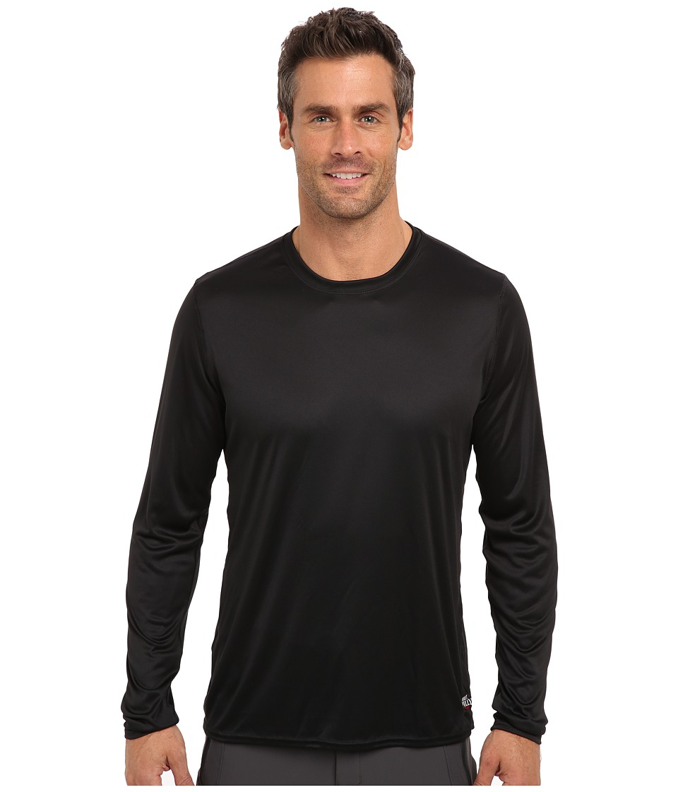 Hot Chillys Peach Solid Crewneck (Black) Men