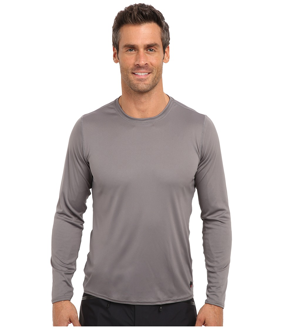 Hot Chillys - Peach Solid Crewneck (Charcoal) Men