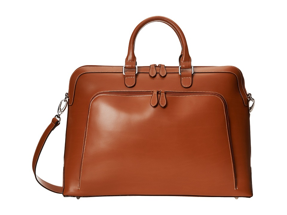 Lodis Accessories - Audrey Brera Briefcase With Laptop Pocket (Toffee) Briefcase Bags