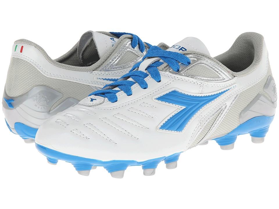 Diadora Maracana L W White/Royal/Silver Womens Shoes