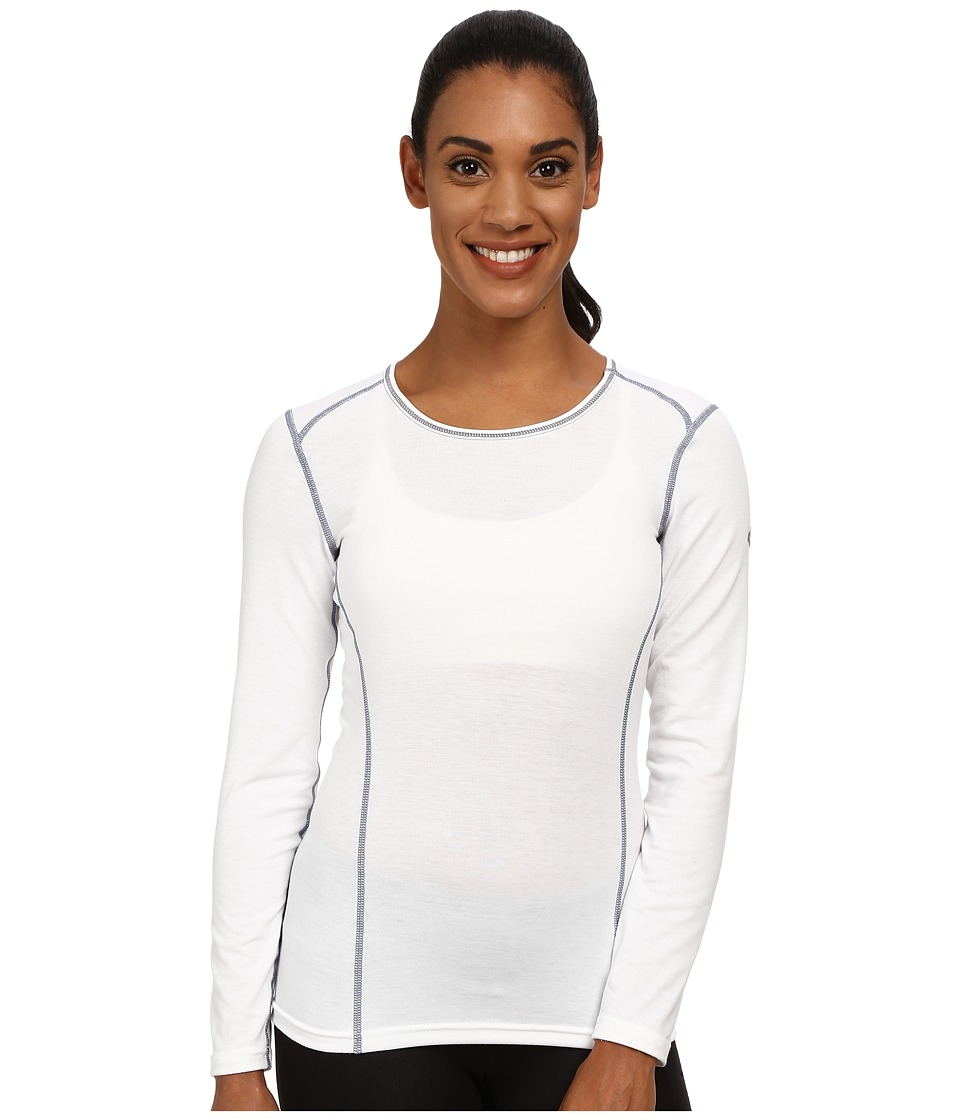 Hot Chillys Mtf 4000 Scoop Top White Womens Long Sleeve Pullover