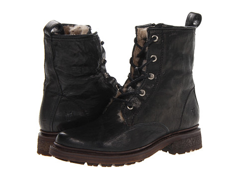 Shop Frye online and buy Frye Valerie Lace Up Black Antique Soft Vintage/Shearling Footwear - Zappos.com is proud to offer the Frye - Valerie Lace Up (Black Antique Soft Vintage/Shearling) - Footwear: Roughing it for a weekend won't seem so bad when you're wearing the warm style of the Valerie Lace Up boot from Frye. ; Antique soft vintage leather upper. ; Traditional lacing with wraparound option for a preferred fit. ; Soft shearling lining for added warmth. ; Leather outsole with rubber forepart for excellent traction. ; Cushioned leather insole provides all-day comfort. ; Imported. Measurements: ; Heel Height: 1 1 2 in ; Weight: 1 lb 6 oz ; Circumference: 12 1 2 in ; Shaft: 6 in ; Platform Height: 1 2 in ; Product measurements were taken using size 7.5, width B - Medium. Please note that measurements may vary by size.