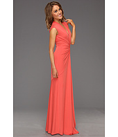 Nicole Miller - V-Neck Ruched Gown