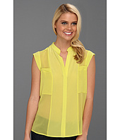 BCBGMAXAZRIA - Addison Silk Sleeveless Blouse