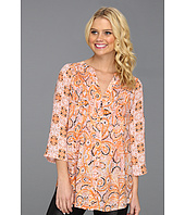 BCBGMAXAZRIA - Bessie Printed Pintucked Top
