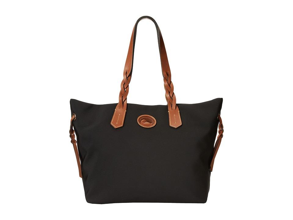 Dooney amp Bourke Nylon Shopper Black Tote Handbags