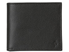 Cole Haan - Greenwich ID DBL Billfold Wallet (Black Grain) - Bags and Luggage