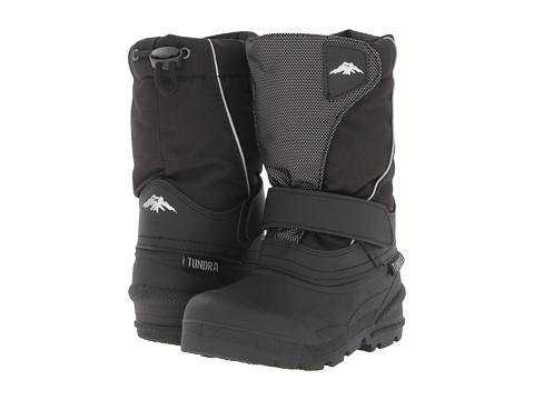 Tundra Boots Kids Quebec (Toddler/Little Kid/Big Kid) - Black/Silver