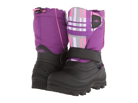 Tundra Boots Kids Quebec Wide (Toddler/Little Kid/Big Kid) - Black/Purple Plaid