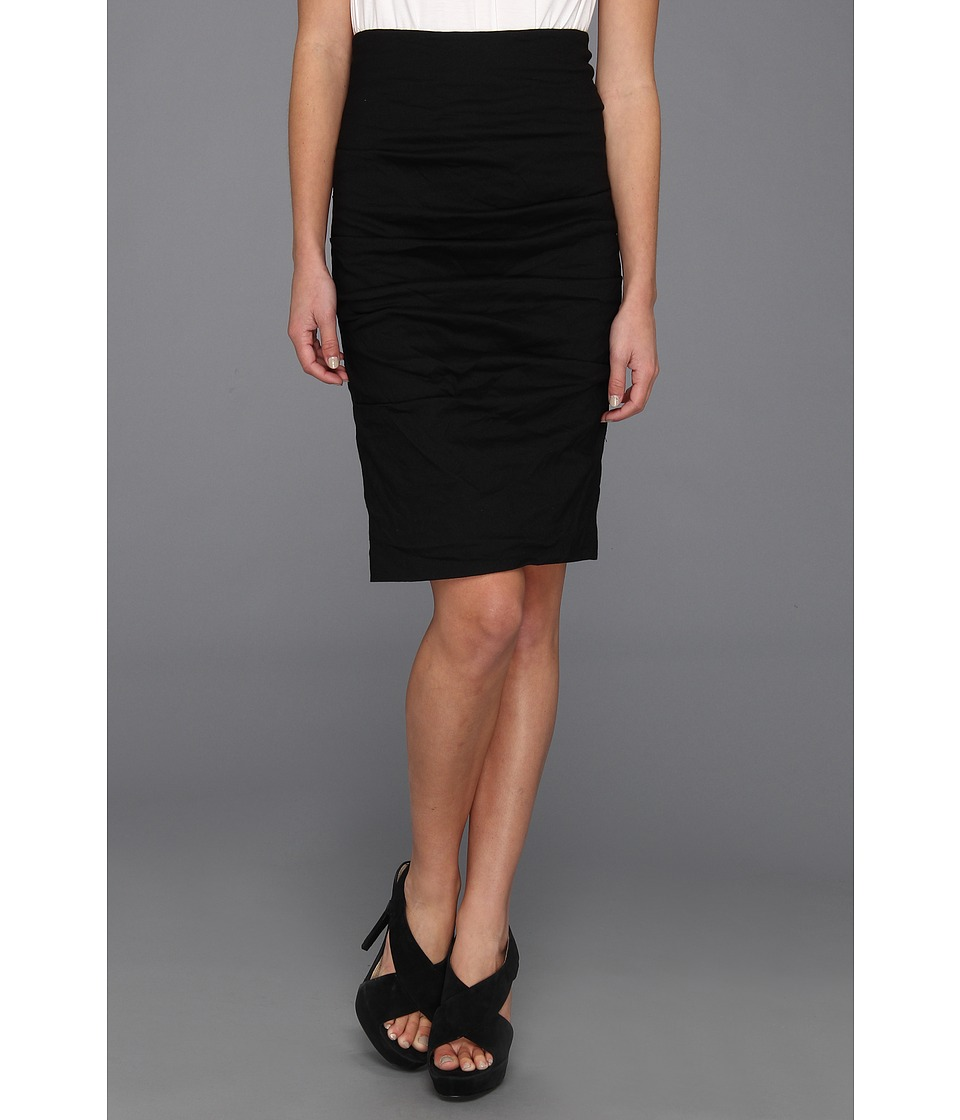 Nicole Miller - Cotton Metal Ruched Skirt (Black) Womens Skirt