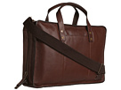 Cole Haan - Greenwich Zip Around Brief (Woodbury Grain) - Bags and Luggage
