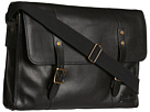 Cole Haan - Greenwich Messenger (Black Grain) - Bags and Luggage