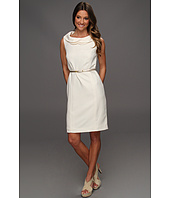 Ellen Tracy - Sleeveless Twill Petal Collar Dress