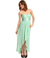 BCBGMAXAZRIA - Petite Alicia Strapless High-Low Gown