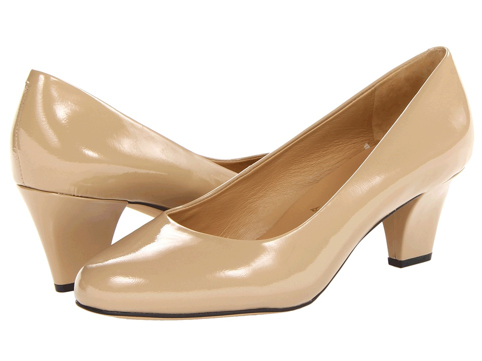 Trotters Penelope (Nude Patent Leather) High Heels