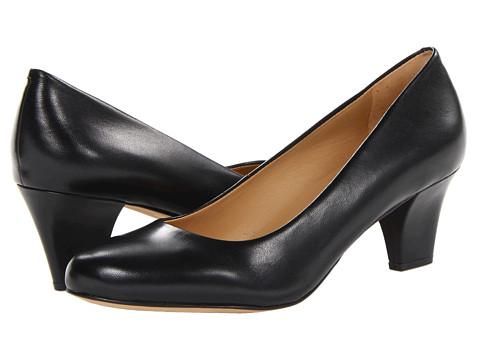 Trotters Penelope - Black Glazed Kid Leather