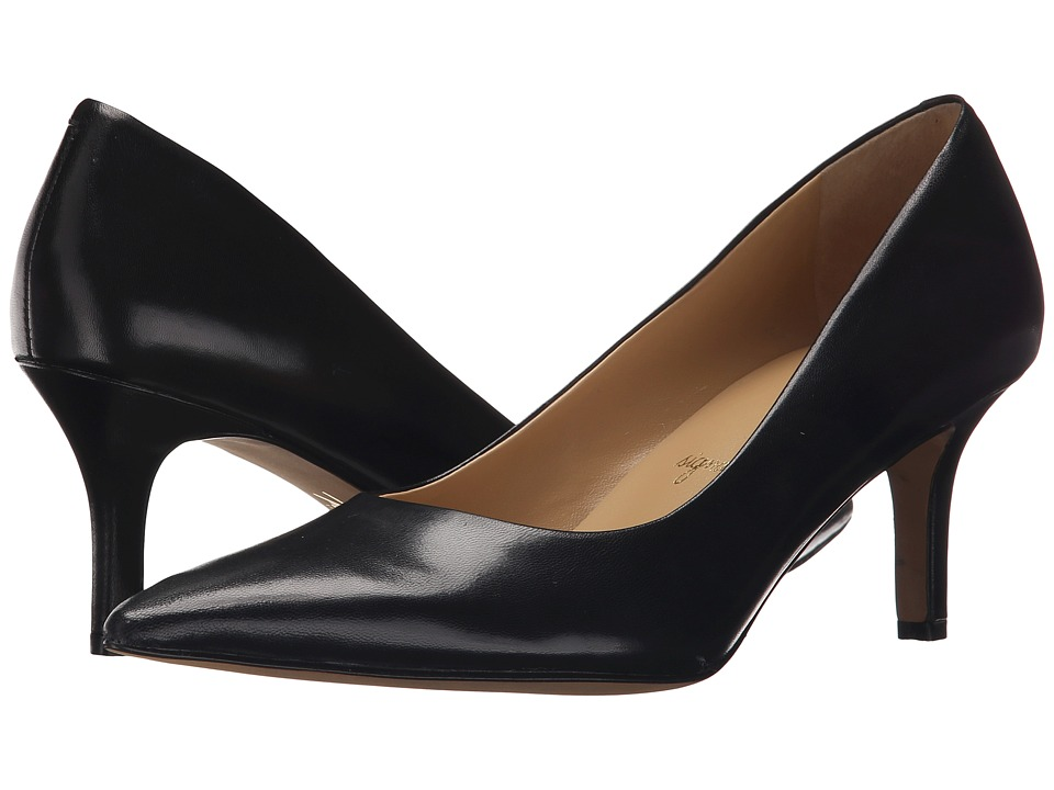 Trotters Alexa Black Glazed Kid Leather High Heels