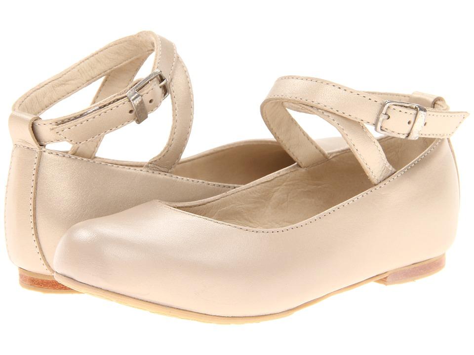 Elephantito French Ballet Flat Toddler/Little Kid/Big Kid Champagne Girls Shoes