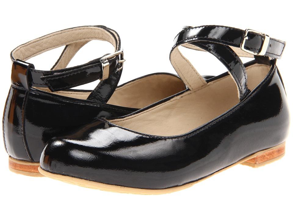 Elephantito French Ballet Flat Toddler/Little Kid/Big Kid Black Patent Girls Shoes
