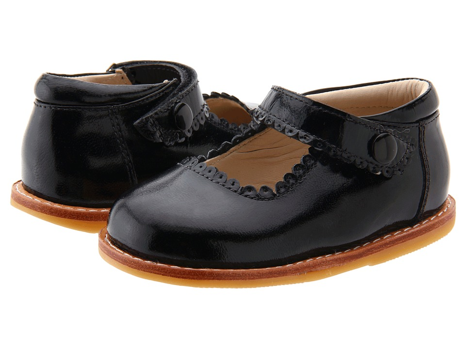 Elephantito Mary Jane Toddler Black Patent Girls Shoes