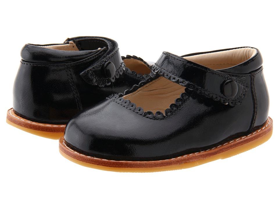 Elephantito Mary Jane (Toddler) (Black Patent) Girl's Shoes