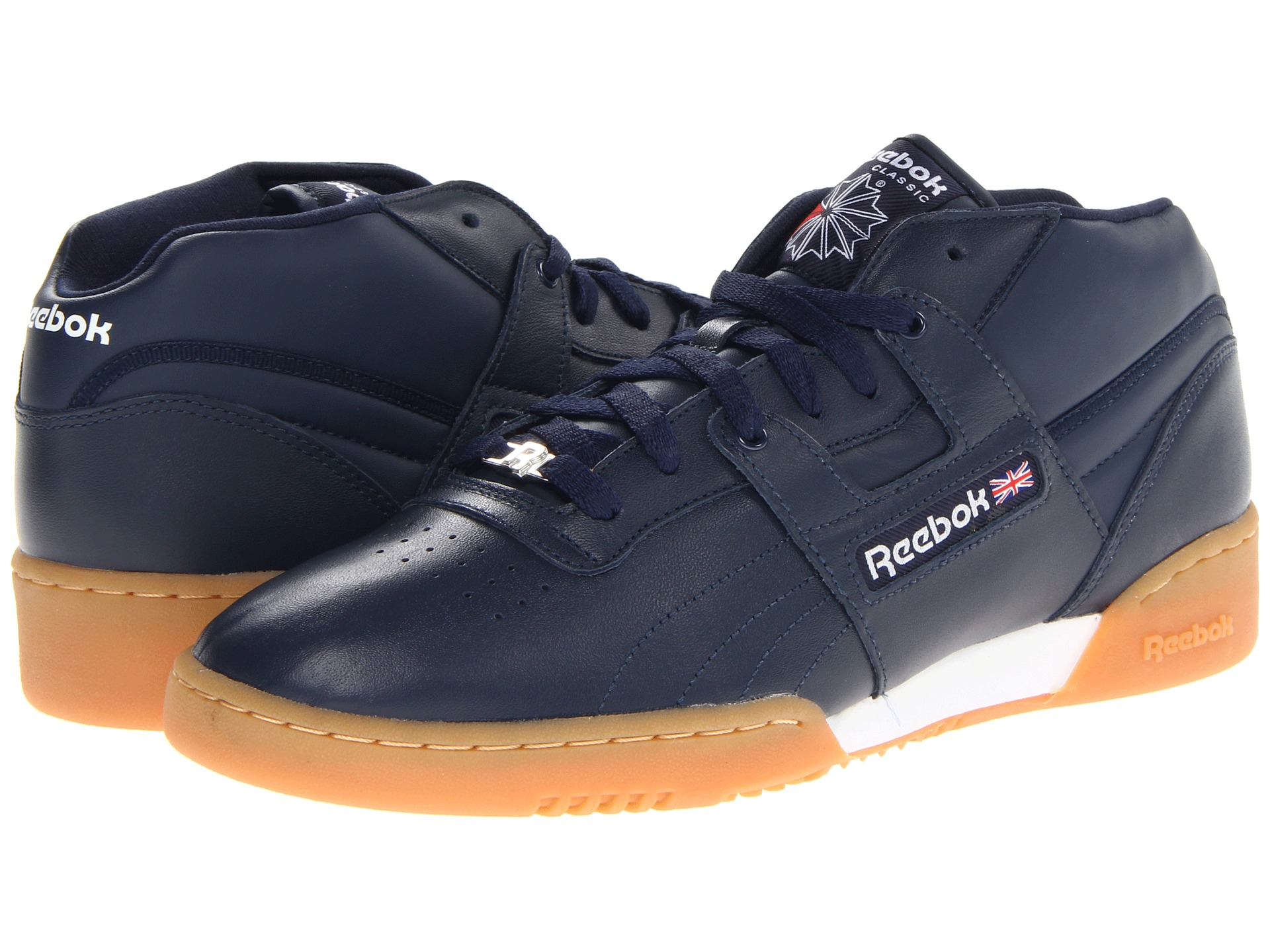 e8da89cf3a29d1 Reebok Lifestyle Workout Mid Gum Athletic Navy White Gum on PopScreen