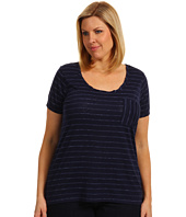 TWO by Vince Camuto - Plus Size Cap Sleeve Tee w/ Pocket