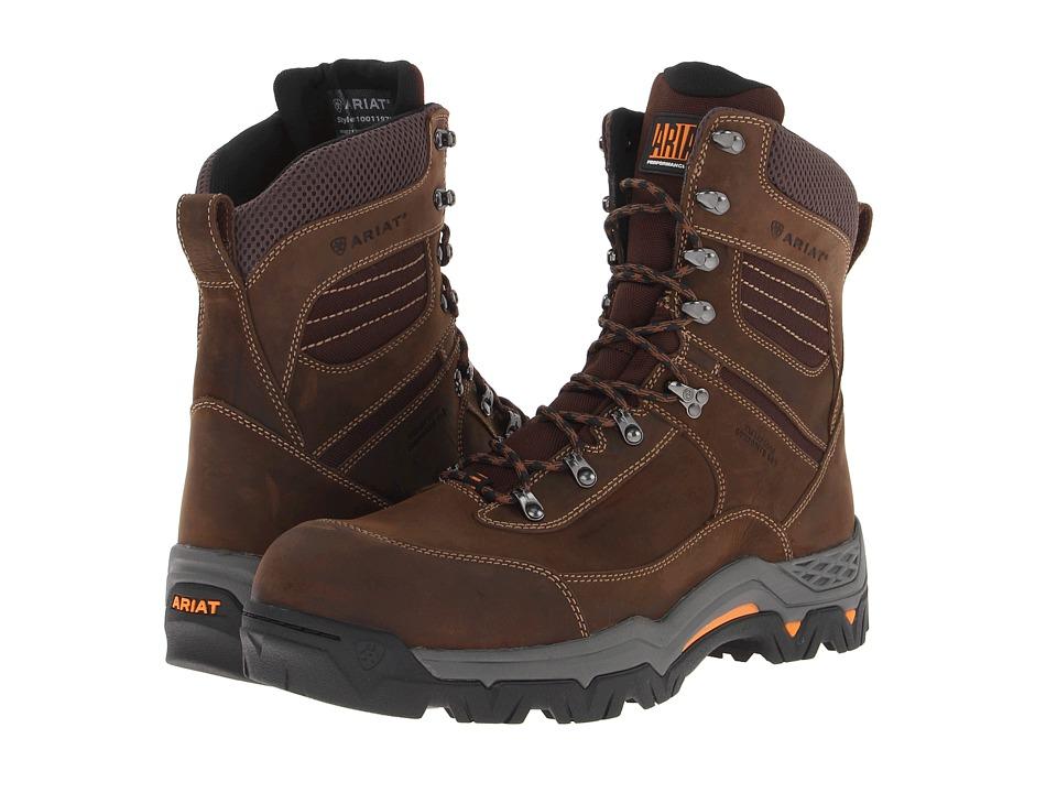 Ariat WorkHog Trek 8 H20 Composite Toe (Oily Distressed Brown) Men