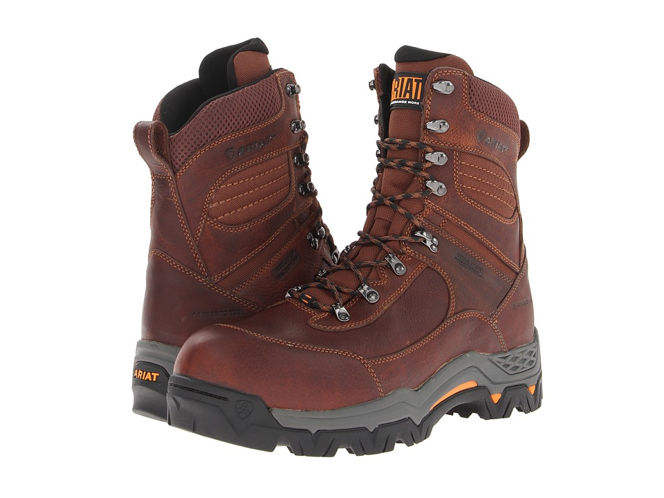 Ariat WorkHog Trek 8 H20 Insulated Composite Toe (Oiled Brown) Men