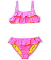 Jessica Simpson Kids - Pink Ruffled Bikini Set (Big Kids)