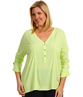 TWO by Vince Camuto - Plus Size Asymmetrical Hem Henley