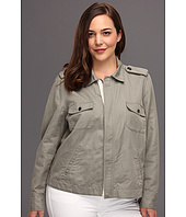 TWO by Vince Camuto - Plus Size Zip Front Utility Jacket