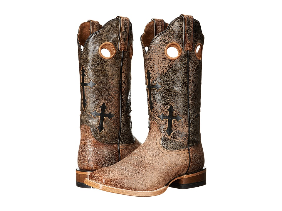 Ariat Ranchero (Quicksand/Black Eclipse) Cowboy Boots