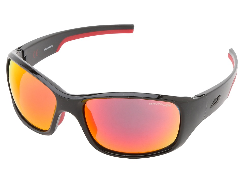 Image of Julbo Eyewear - Julbo Stunt Performance Sunglass (Black/Red with Spectron 3 color flash Lens) Fashion Sunglasses