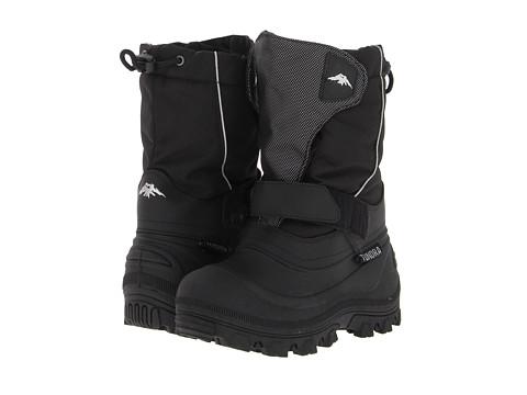 Tundra Boots Kids Quebec Wide (Toddler/Little Kid/Big Kid) - Black/Silver