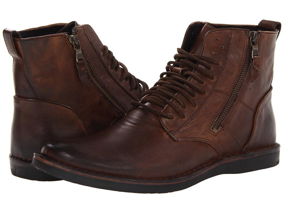 John Varvatos Barrett Side Zip Boot (Mocha) Men