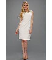 Ellen Tracy - Sleeveless Bengalline W/ Embellished Collar Dress