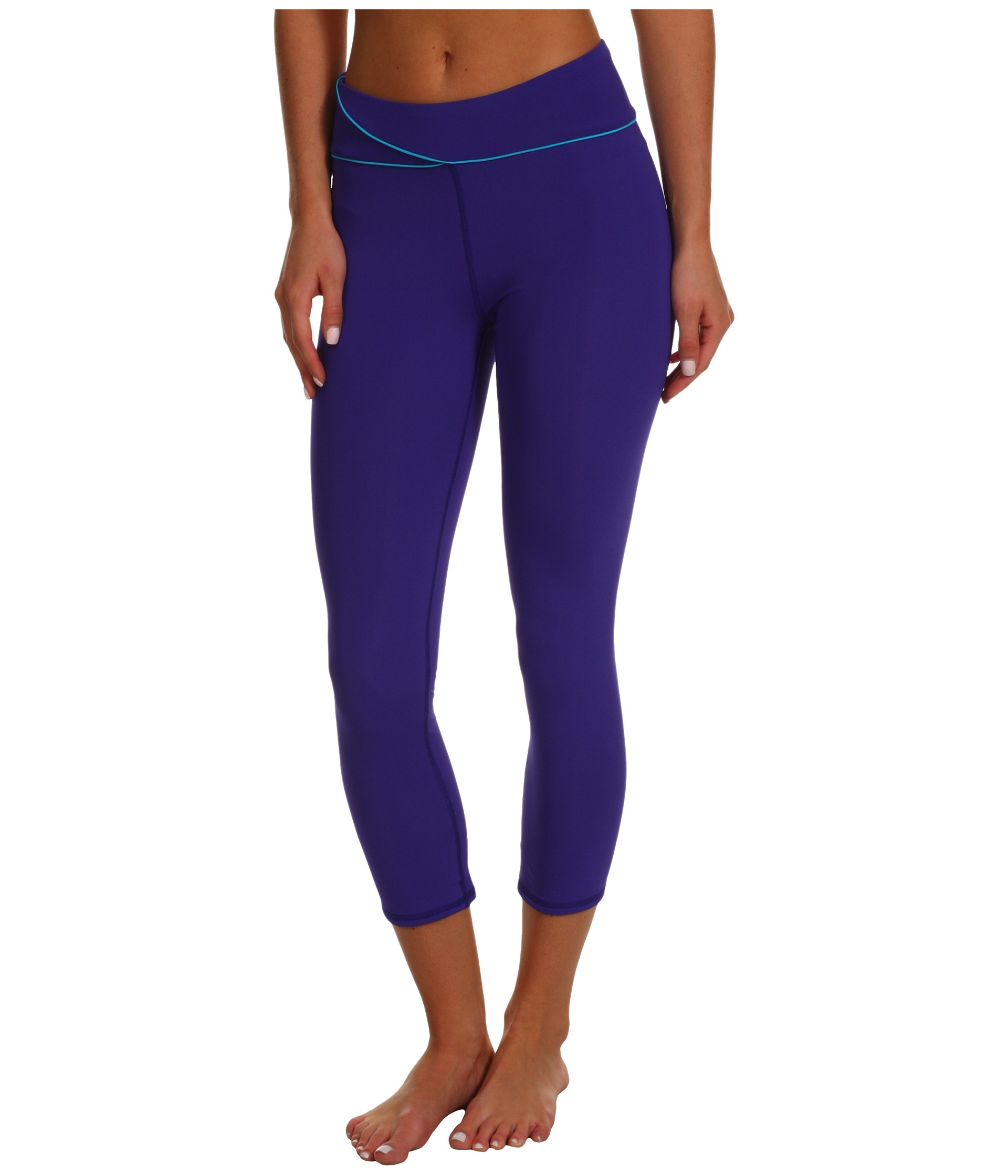 Deals Low Price Hue Sport Capri Leggings Purple Reign